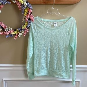 Victoria Secret PINK Long Sleeve Lace Top